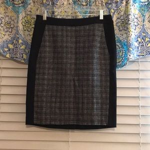 Talbots black and tweed pencil skirt size 8P NWT